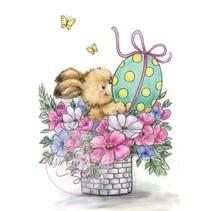 Tampons transparents lapin de Pâques