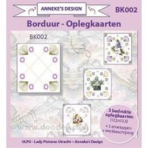 3 layout de la carte imprimée, 3 enveloppes