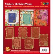 Scrapbook stickers Geburtstag.