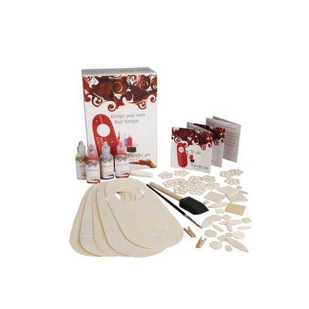 Objekten zum Dekorieren / objects for decorating para pintar Bastelset para placas 5 de puertas de madera y decorar