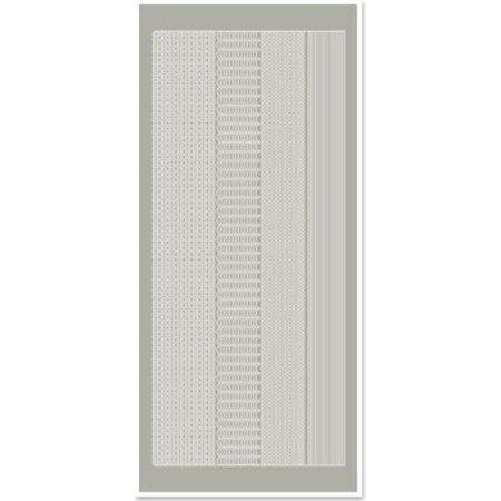 Sticker Pegatinas, márgenes estrechos, de color gris plateado, tamaño 10x23cm