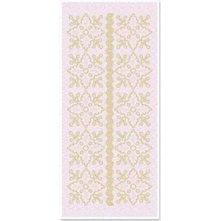 Sticker 1 stickers glitter des ornements floraux, or blanc paillettes, taille 10x23cm