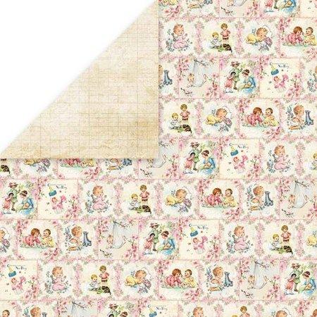 Designer Papier Scrapbooking: 30,5 x 30,5 cm Papier Diseñador Bow, 30,5 x 30,5 cm, bebé recién nacido 3