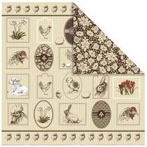 1 Designerbogen, 30,5 x 30,5cm, mit hübsche Ostermotive