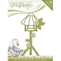 Stamping and embossing stencil, Birdhouse
