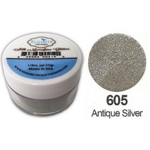 Silk MicroFine Glitter, Antik Sølv i