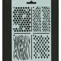Polybesa pochoir ATC, Stencil