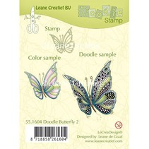 Transparent stamp: Zentangle butterfly