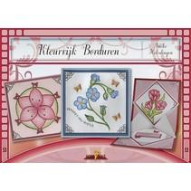 Bastelbuch tema: blomster med Stickvorlage
