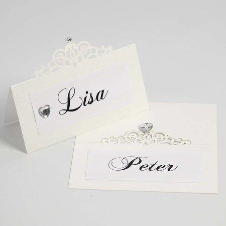 KARTEN und Zubehör / Cards Bordkort, størrelse 10,7x5,4 cm, fløde, 10 stykker