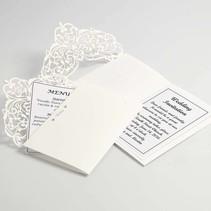 Karte & Umschlag, Kartengröße 12x17,7 cm, creme, 5 Stück, 230 g