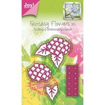 Découpe et gaufrage pochoir Mery la structure pochoir fleur.