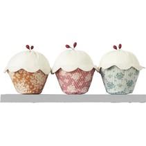 Tilda materiale sæt Cupcakes sæt med 3, 14 cm