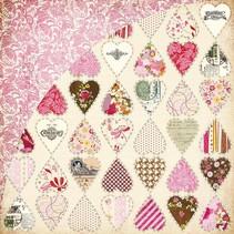 Kissing Booth, Heart breaker, Kis-3554, 30.5 x 30.5 cm