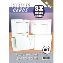 Figure Cards 1 - Craft, weiss