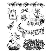 """Clear stamps """"conceptions de bébé"""" naissance du temple MyPaperWorld de silicone"""