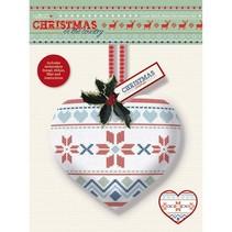 Cross Stitch Kit de décoration de coeur - Noël dans le pays - foire est