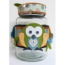 gabarit de découpe et gaufrage: Owl