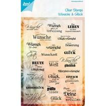 Transparent Stempel: Wünsche und Glück