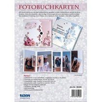 ranurado Bastelset completo para tarjetas de álbum de fotos de rosa y azul claro + 8 de la tarjeta dual