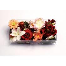 Papir Blomster sortiment d`rot, rød, rosé