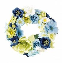 Papir Blomster sortiment, blå, grøn, hvid