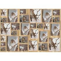 Decoupage papier, 25x35 cm, Oslo Nature 15, 10 feuilles