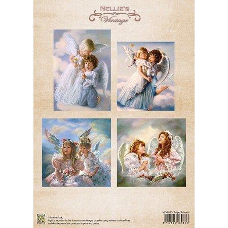 Nellie snellen A4, Bilderbogen Vintage, Ange Amis