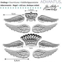 ailes métalliques antiques + couronne