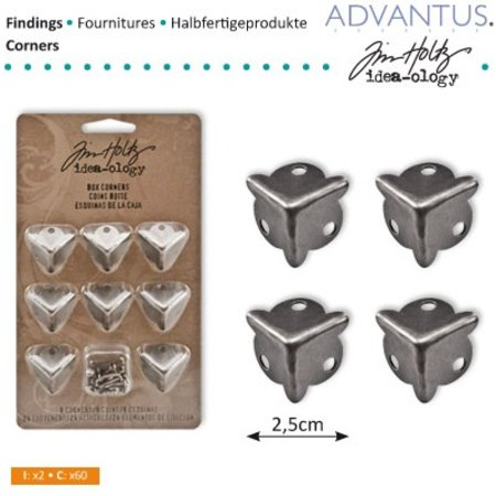 Embellishments / Verzierungen 8 Box Ancient Eck pieds + vis