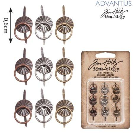 Embellishments / Verzierungen 9 Mini métaux Poignées, anciennes