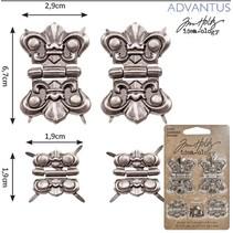 4 metales bisagras, antigüedad