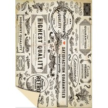 Kartenkarton Vintage Labels