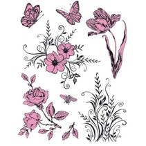 tampons transparents à thème: Fleurs