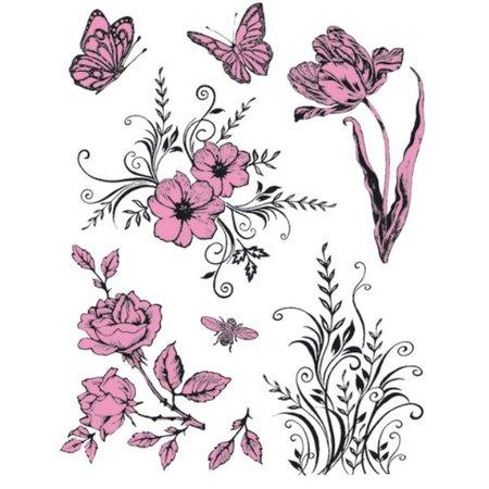 Viva Dekor und My paperworld Transparent Stempel, Thema: Blumen