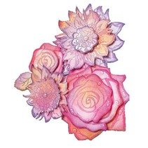 Transparent stamps, roses 3D