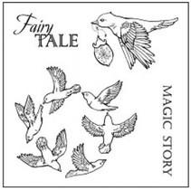 selos transparentes, pássaros da mola