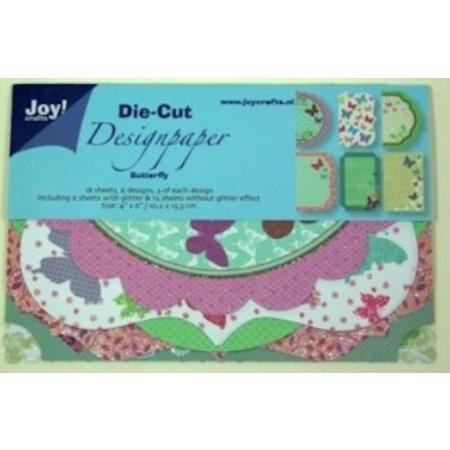 Joy!Crafts und JM Creation Design Block, Design Paper Die Cut, Butterfly