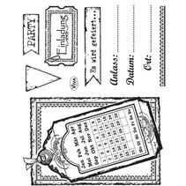Transparent Stempelset: Einladung