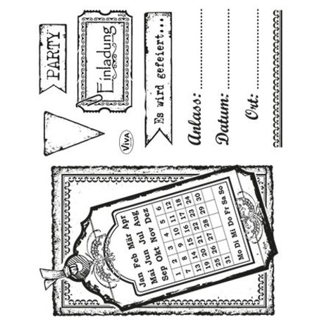 Viva Dekor und My paperworld Transparent Stempelset: Einladung