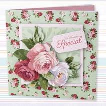Decoupage conjunto de tarjeta, simplemente floral, Ocasiones especiales