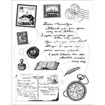 Transparent Stempelset: Reise