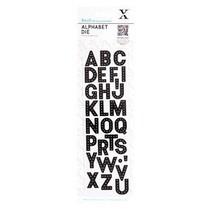 Stansning og prægning skabelon: Alphabet - breve