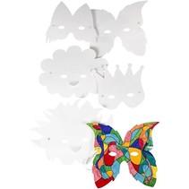 Faire des masques de carnaval, 15-20 cm, 5 assortis,