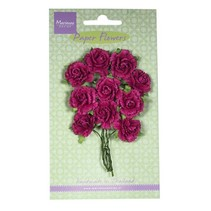 Paper Flower, nelliker - medium pink