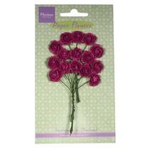 Paper Flower, roser, mørk pink
