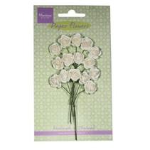 Flor de papel, rosa, blanco