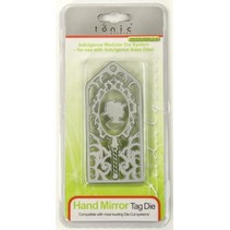 Punching and embossing template: Hand Mirror Day The