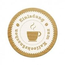timbres Woodies, invitation à café partie