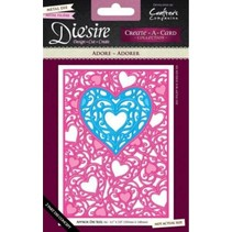 Punching and embossing template: Filigree Heart frame